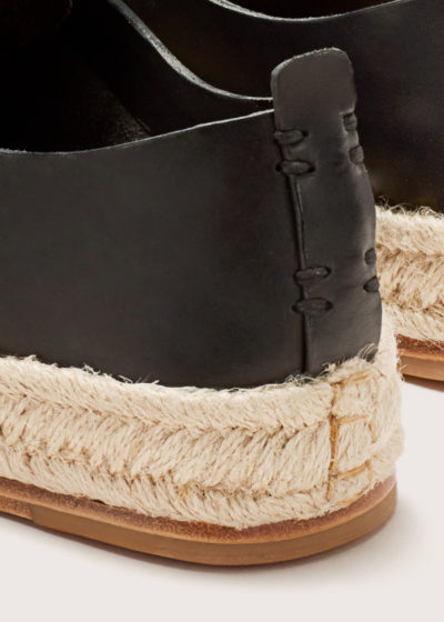 Leather lace-up espadrilles by Feit