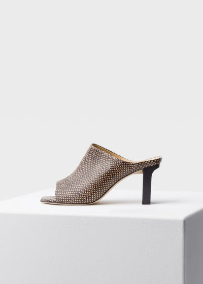 'Winston' choc dot heels by Aeyde