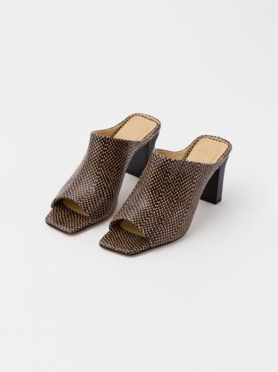 'Winston' choc dot heels