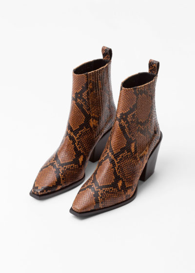 'Kate' snake boots by Aeyde