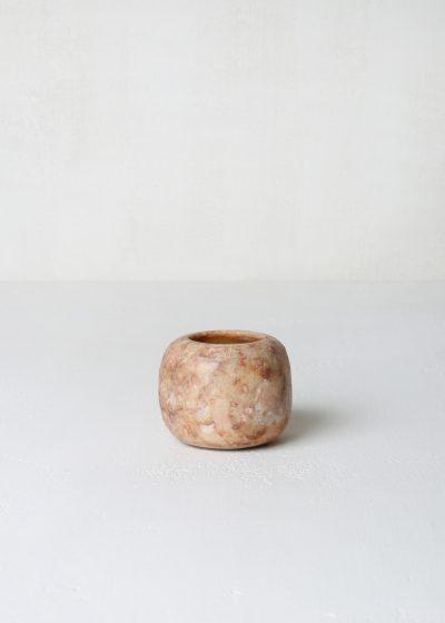 Small tea light holder (brown alabaster) by Alabaster Tea Lights