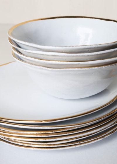 Cresus dinner plate by Astier de Villatte