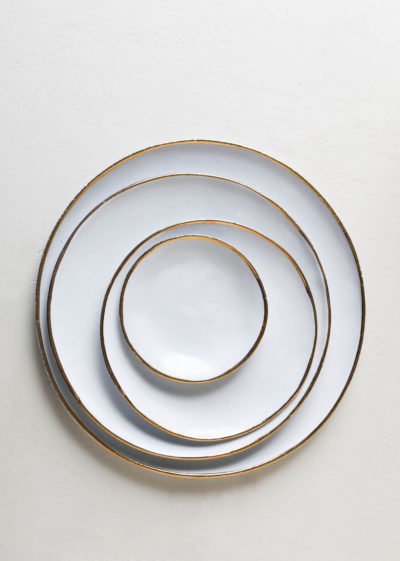 Cresus large dinner plate by Astier de Villatte