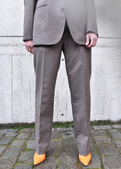 Wool slacks in brown