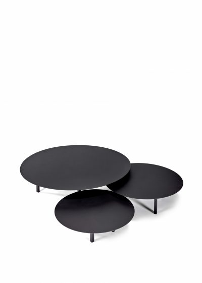 Table Low Black ∅ 68 cm by Items by Bea