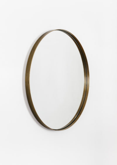 Tall 'Béatrice' mirror in aged brass by illus