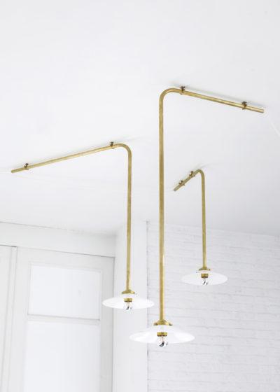 Ceiling lamp no 3 brass by Muller van Severen for valerie_objects