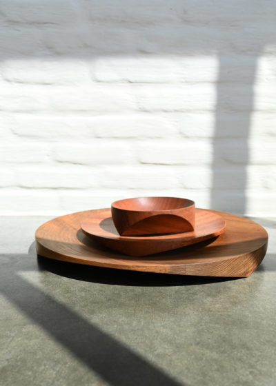 Topological Teak bowl (40 cm) by Case Goods