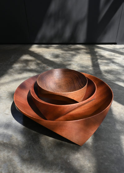 Topological Mahogany bowl (20 cm) by Case Goods