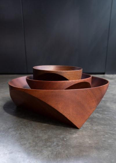 Topological Teak bowl (15 cm) by Case Goods