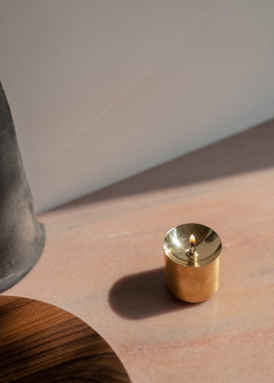 Tall 'Dipā' oil lamp by Case Goods
