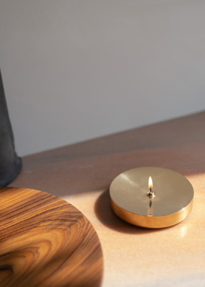 Wide 'Dipā' oil lamp by Case Goods