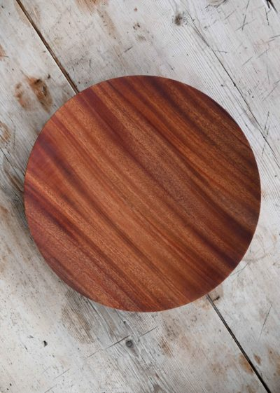 Topological mahogany bowl (26 cm) by Case Goods