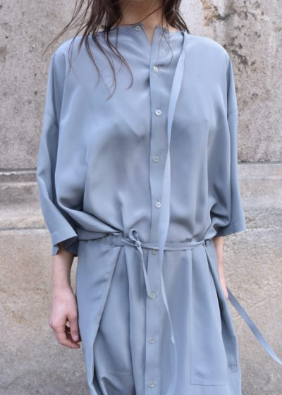 Every grey silk dress by Monique van Heist