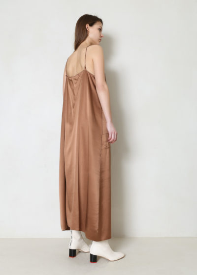 Maxi silk satin dress by Extreme Cashmere