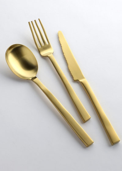 Table fork brushed brass by Maarten Baas for valerie_objects