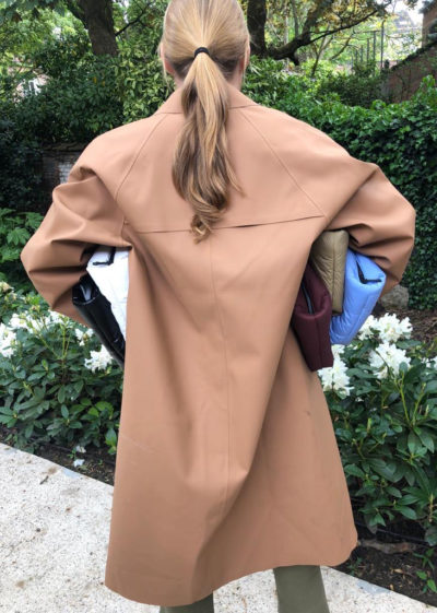 Rubber Tawny coat by KASSL editions