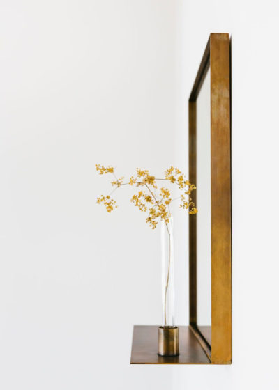 'Georgette' mirror in aged brass by illus