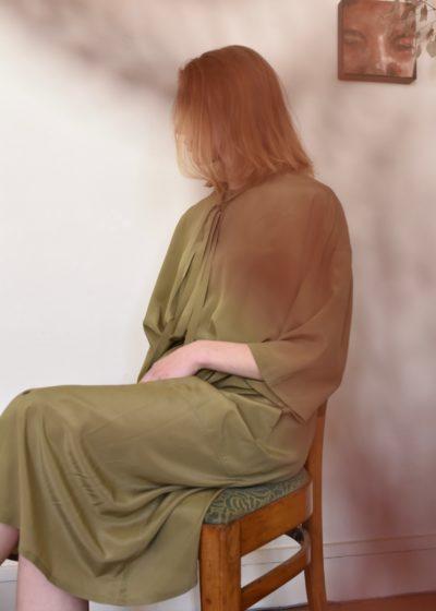 Every Dress Moss Silk by Monique van Heist
