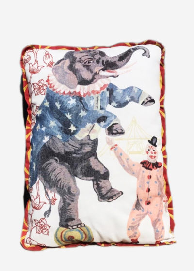 Circus pillow (available in 4 prints) by Nathalie Lété x Design Farm Productions