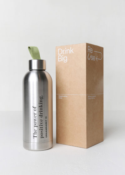 'The Power of Positive Drinking' bottle