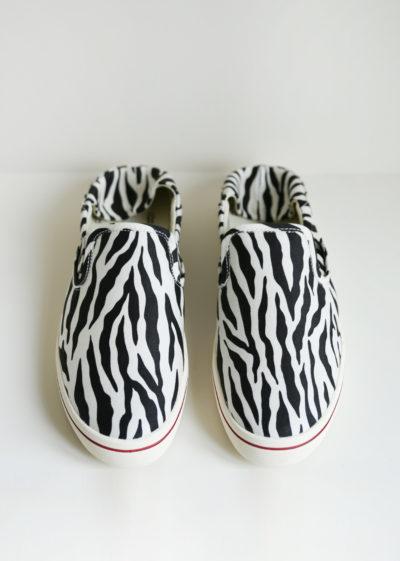 Zebra slip on sneakers by R13