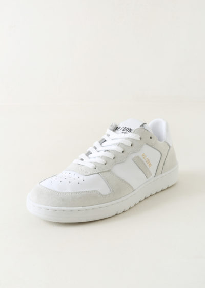Basketball shoe in full white by Re/done