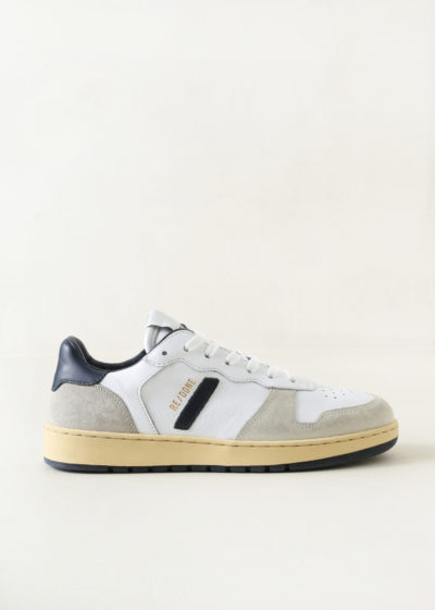 Basketball shoe in white & navy by Re/done