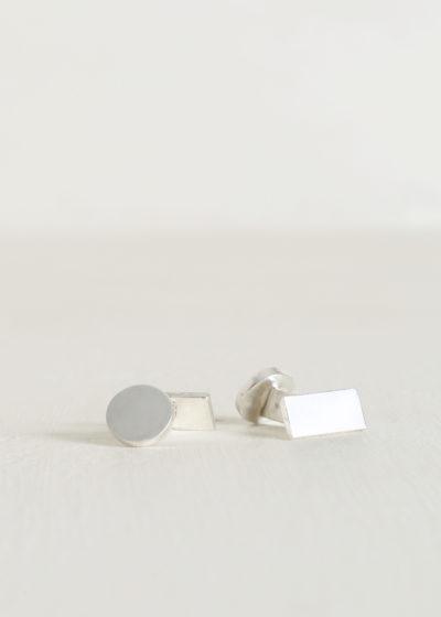 Day rectangle cufflinks by Samuel Gassmann