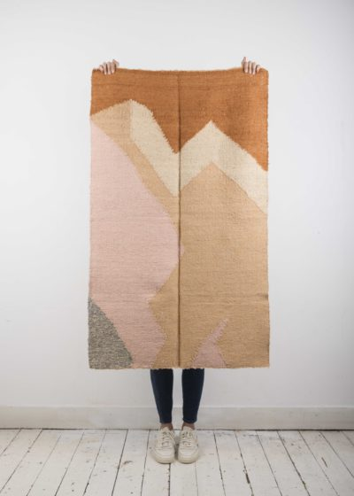 Small 'Moon blush' rug by Que Onda Vos