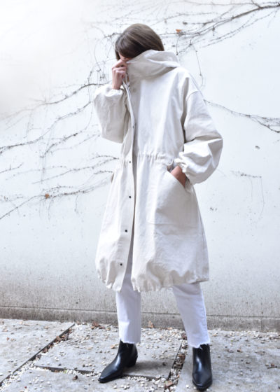 Chalk forager coat (size 2) by Toogood