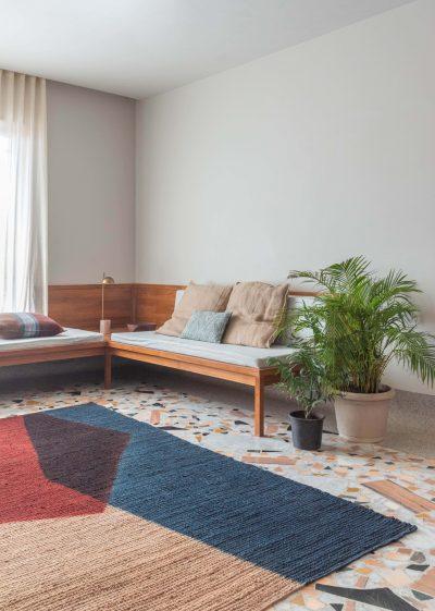 Large 'Umbra' jute rug (183 x 275cm) by Case Goods
